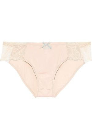 Cosabella Women Briefs - Woman Evolved Stretch-jersey And Lace Low-rise Briefs Peach Size L