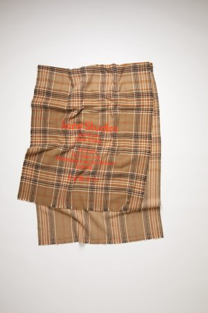 Acne Studios FN-UX-SCAR000110 /brown Tartan check scarf