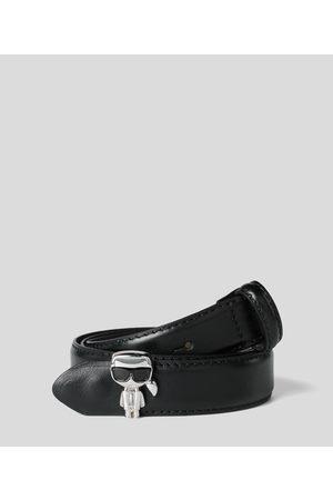 Karl Lagerfeld Women Belts - K/IKONIK METALLIC PIN BELT