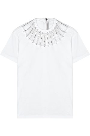 Christopher Kane Crystal-embellished cotton T-shirt