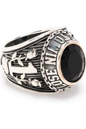AMBUSH Rings - Engraved crystal signet ring