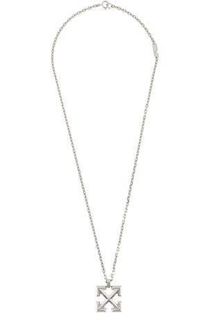 OFF-WHITE Arrow-pendant brass necklace