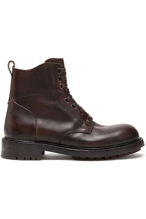 Dolce & Gabbana Men Ankle Boots - Cowhide lace-up ankle boots