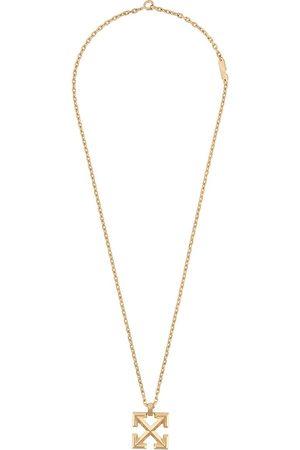 OFF-WHITE Arrows-pendant brass necklace