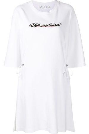 OFF-WHITE Logo print shirt dress