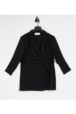 ASOS ASOS DESIGN Tall jersey wrap suit blazer in