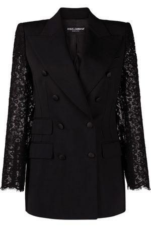 Dolce & Gabbana Women Blazers - Lace-sleeve blazer