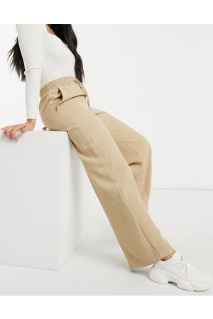 River Island Wide leg casual pants in camel