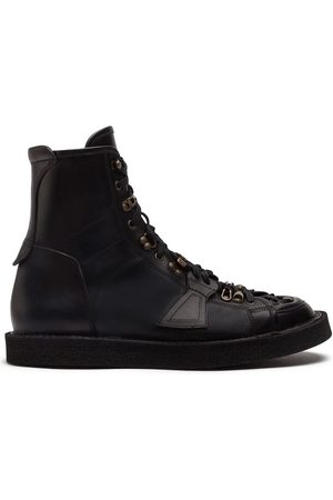 Dolce & Gabbana Panelled lace-up boots