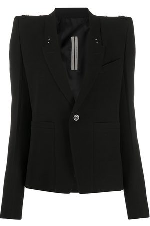 Rick Owens Padded shoulder strap detail blazer