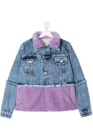 Natasha Zinko Denim Jackets - Two-tone denim jacket