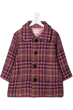 Natasha Zinko Girls Coats - Plaid check coat
