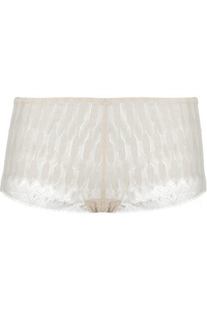 ERES Relief patterned lace boxers - Neutrals