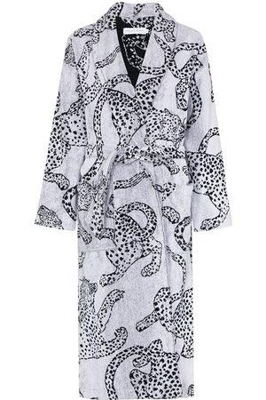 Desmond & Dempsey Women Bathrobes - Jaguar-print cotton robe