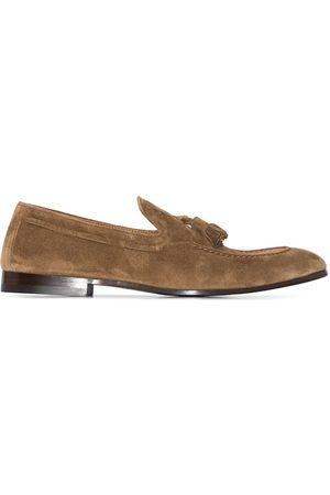 Brunello Cucinelli Tassel detail suede loafers