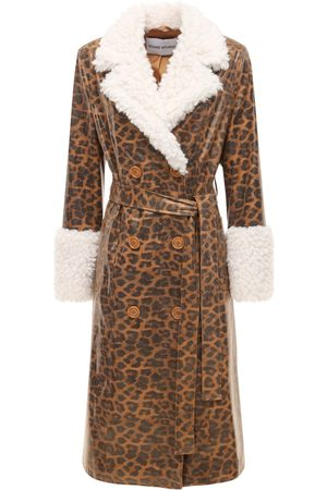 Stand Studio Women Coats - Genesis Printed Faux Leather Coat