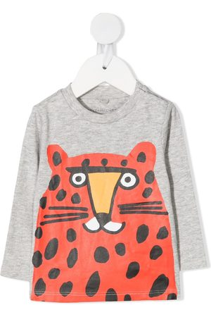 Stella McCartney Big cat-print T-shirt - Grey