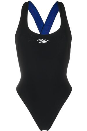 OFF-WHITE Logo-strap swimsuit
