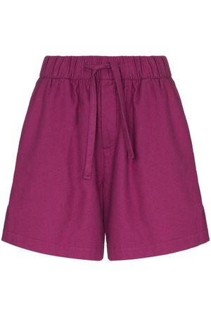 TEKLA Women Pajamas - Wide-leg cotton pajama shorts