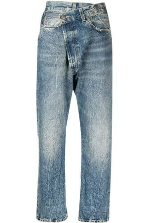 R13 Crossover high-rise jeans