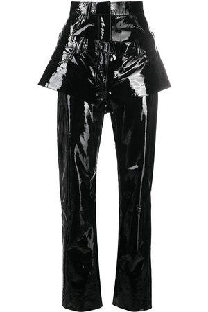 Natasha Zinko Women Straight Leg Pants - Double-waist straight-leg trousers