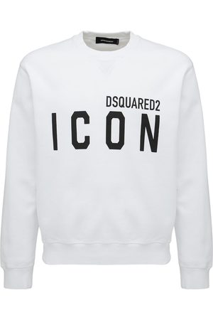 Dsquared2 Men Sweatshirts - Logo Print Cotton Jersey Sweatshirt