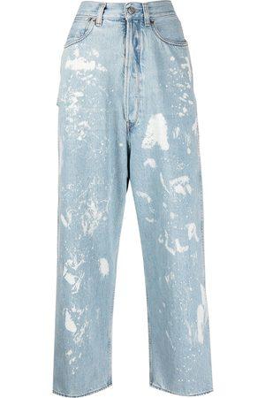 Golden Goose Paint-splattered straight-leg jeans