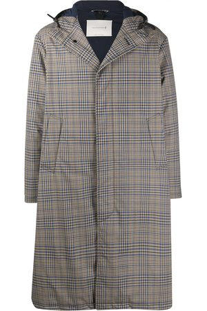 MACKINTOSH Check-pattern hooded coat