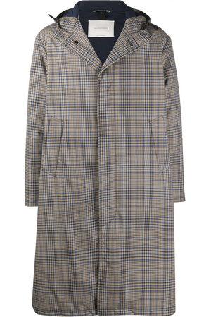 MACKINTOSH MILAN check-pattern hooded coat