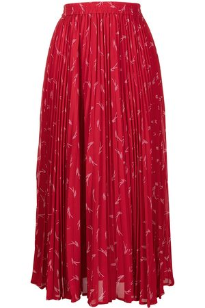 Michael Kors Graphic print pleated maxi skirt