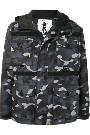 A BATHING APE® Shark camouflage-print hooded jacket