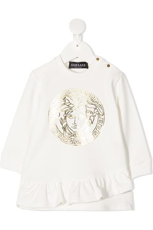 VERSACE Baby Casual Dresses - Medusa ruffled sweatshirt dress