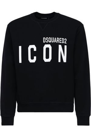 Dsquared2 Logo Print Cotton Jersey Sweatshirt