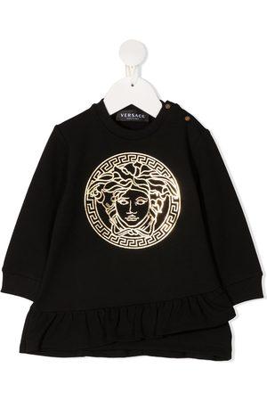 VERSACE Baby Casual Dresses - Medusa ruffled sweatshirt dress