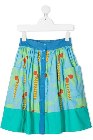 Stella McCartney Palm tree-print skirt
