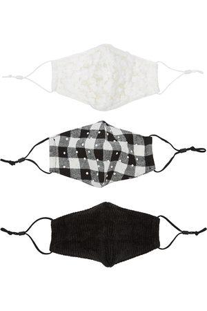 Lele Sadoughi Women Caps - Snow Cap monochrome face masks - set of three