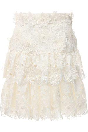 ZIMMERMANN The Lovestruck Trim Lace Mini Skirt