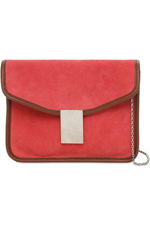 IL BISONTE Luisa Simmetria Suede Shoulder Bag