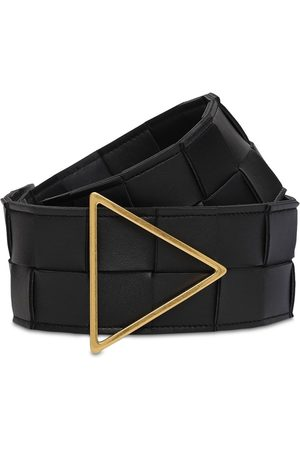 Bottega Veneta 6cm Intreccio Belt W/triangle Buckle