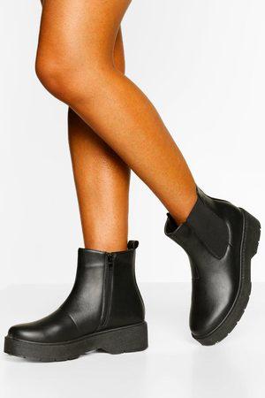 Boohoo Womens Platform Chunky Chelsea Boots - - 5