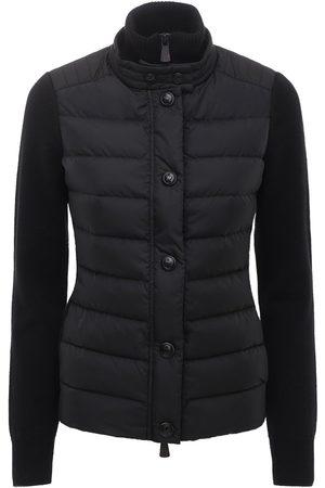Moncler Tricot Knit & Nylon Down Jacket