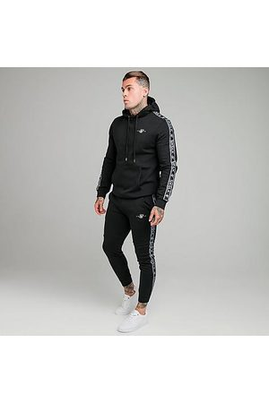 SikSilk Men's Fleece Hoodie and Jogger Pants Track Suit in