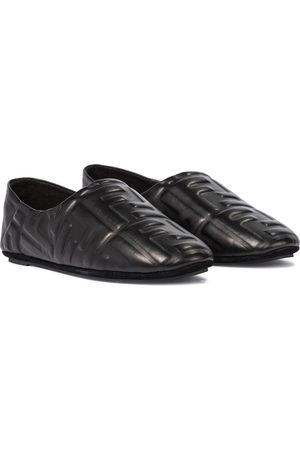 Fendi FF embossed leather ballet flats