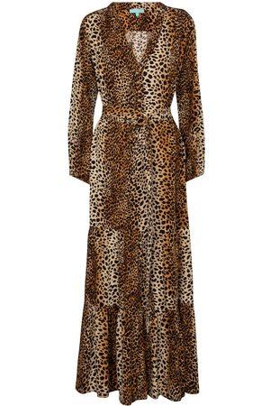 Melissa Odabash Sonja cheetah-print maxi dress