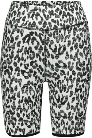 The Upside Dance leopard-print biker shorts