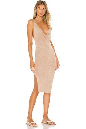 superdown Women Bodycon Dresses - Sabrina Knit Midi Dress in Tan.