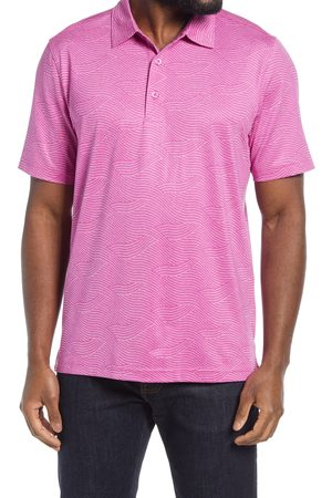 Cutter & Buck Men's Big & Tall Forge Wave Print Performance Polo