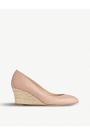 LK Bennett Eevi leather wedge court shoes