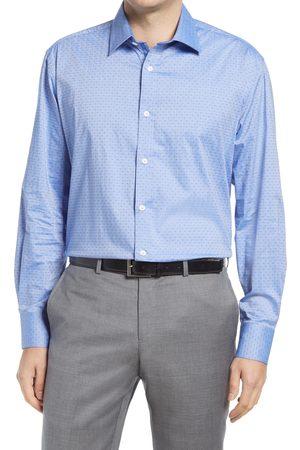 English Laundry Men's Slim Fit Dot Dress Shirt