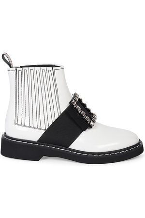 Roger Vivier Women's Viv Rangers Leather Chelsea Boots - - Size 41 (11)